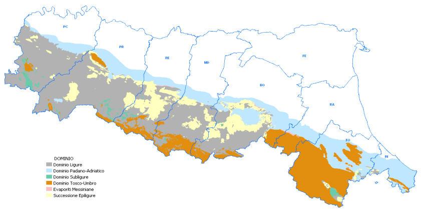 Landslide characteristics in EmiliaRomagna Geological seismic