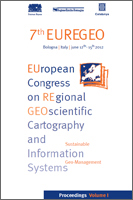 7th EUREGEO, EUropean congress on REgional GEOscientific cartography and Information systems, Bologna, Italy, 2012