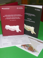 """Volume of """"Illustartive Notes"""" and """"Stratigraphic Tables"""" + Geological Cross Sections + Structural-Geological Map of the Emilia-Romagna Apennines in scale 1:250,000 (italian and english languages)"""
