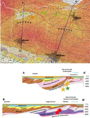 Geological map earthquake 2012 - book