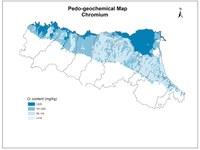 Pedogeochemical map Chromium