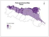 Pedogeochemical map Nichel