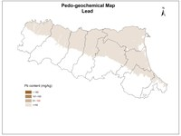 Pedogeochemical map Pb