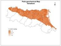Pedogeochemical map Vanadium