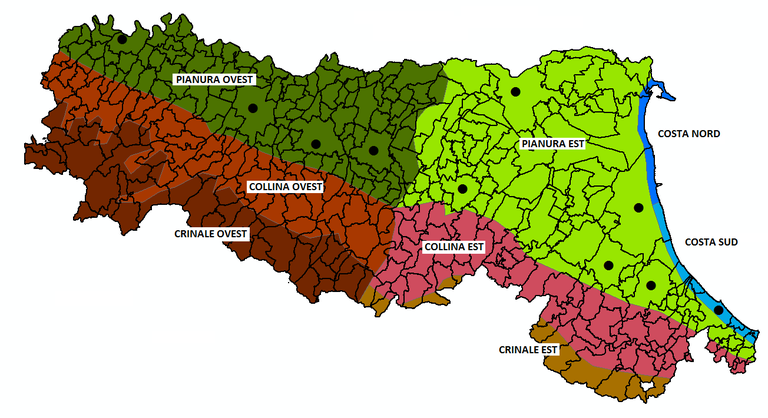Cartina Italia Zone Climatiche.Proiezioni Climatiche Regionali Per Aree Omogenee Ambiente