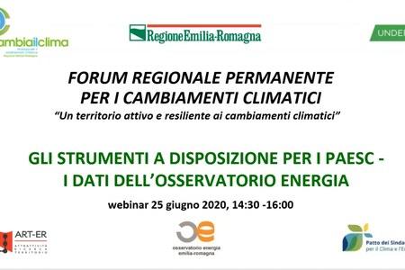 Emissioni di gas climalteranti - webinar 25 giugno 2020