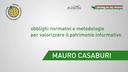 Mauro Casaburi - Planetek Italia - Obblighi normativi e metodologie per valorizzare il patrimonio in formativo