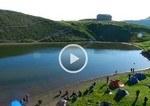 Eco della musica - Alta via dei parchi - al lago Scaffaiolo - risveglio