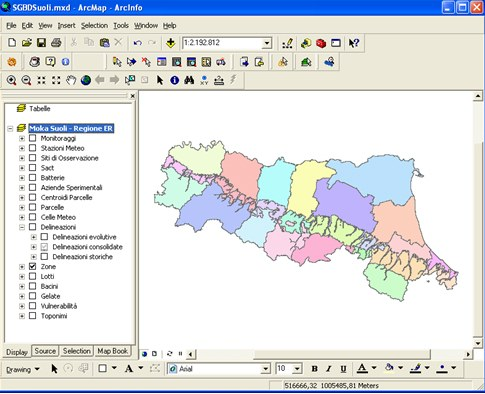 Figura 4. Client Moka Arcmap SGBDSuoli