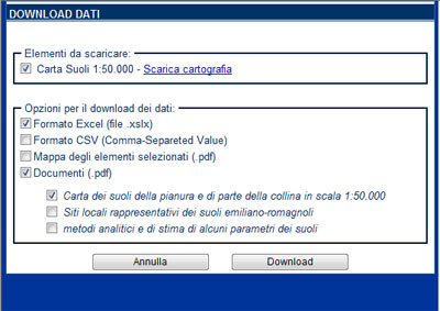 Download dati da geocatalogo