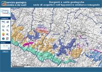 sorgenti e unità geologiche sede di acquiferi dell'Appennino   emiliano-romagnaolo