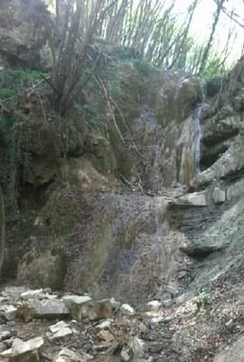 Cascate del Bucamante (MO), depositi di travertino nella parte medio-alta del corso d'acqua