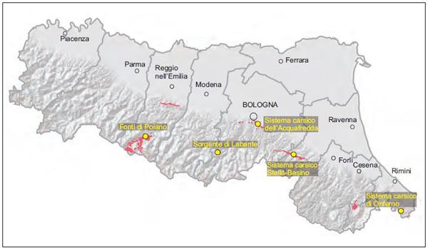 Mappa sorgenti carsiche