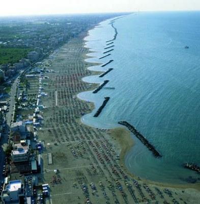 Zona costiera, foto aerea di spiaggia