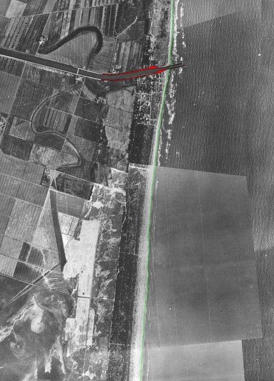 Immagine 1943, i moli del Canale di Destra Reno