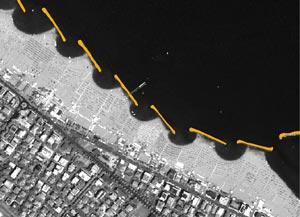 Opere longitudinali emerse - Accrescimento della spiaggia e formazione dei tomboli