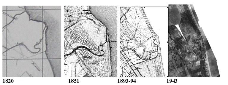 Cartografia storica:Esempio Foce fiume Savio