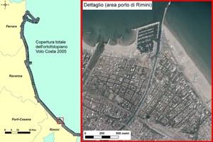 Il rilievo, effettuato dalla CGR, è stato eseguito lungo la costa Adriatica con lo scopo di effettuare un controllo sullo stato della costa emiliano - romagnola.