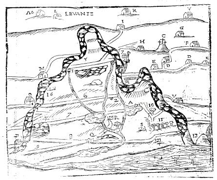 Pianta Comune Creda anno 1609