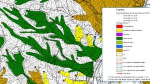 Particolare del database cartografico del Progetto IFFI