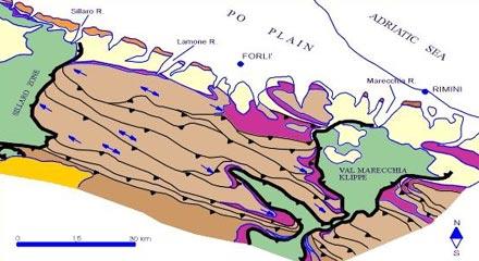 Carta Geologico-Strutturale dell'Appennino emiliano-romagnolo in scala 1:250.000