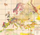 Carta geologica Europa 1881