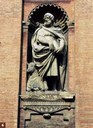 Tempio di S. Salvatore: statua di San Luca