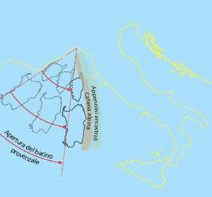 La rotazione del blocco continentale formato da Sardegna e Corsica