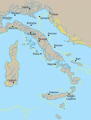 Nel Pliocene la penisola italiana aveva acquisito già la direzione di allungamento e la posizione odierne