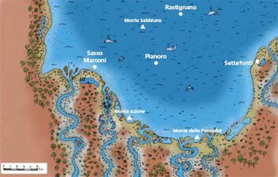 piccolo golfo marino durante il Pliocene