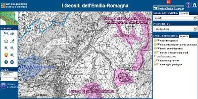 Web Gis patrimonio geologico e geositi