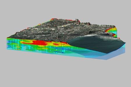 Modelli 3D depositi olocenici  margine Po