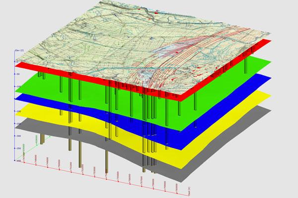 Il modello si spinge oltre il migliaio di metri in profondità e rappresenta l'assetto strutturale e l'andamento delle unità geologiche principali nel sottosuolo del Ravennate.