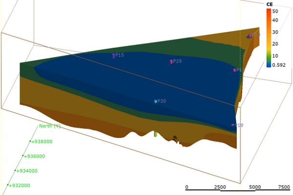 Modelli 3D Variabilità 3D della conducibilità elettrica nell'acquifero freatico costiero presso Ravenna