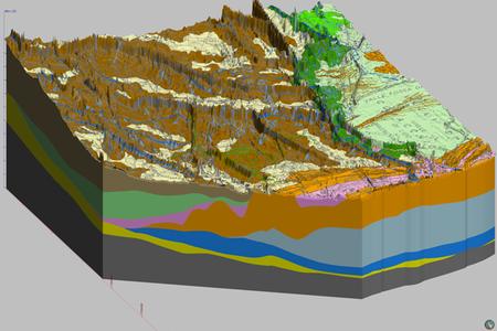 Modello 3D dei depositi olocenici nel settore compreso tra foce Fiumi Uniti e foce Reno