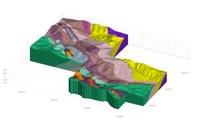 La struttura di Salsomaggiore in 3D - terminazione SE - Modelli 3D