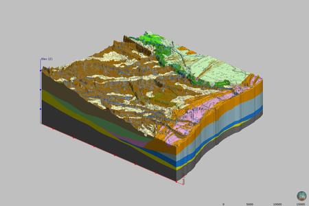 Depositi olocenici nel settore compreso tra foce Fiumi Uniti e foce Reno - Modelli 3D
