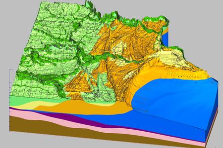 Foce Volano, la successione olocenica - Modelli 3D