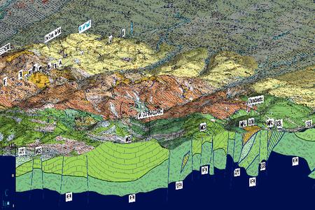 Foglio 219 - Cartografia 3D