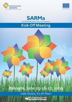 Locandina del primo meeting internazionale ufficiale del Progetto SARMa, Bologna