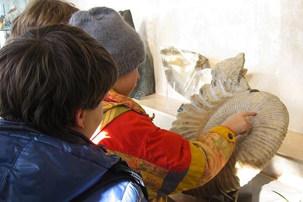 bambini in visita al museo