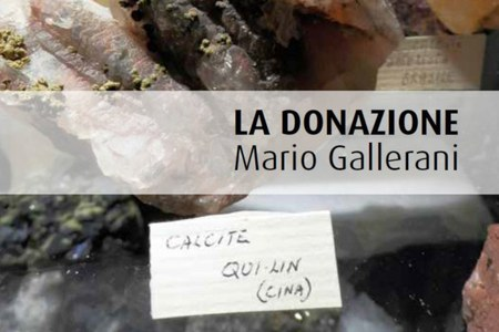 Donazione Gallerani al Museo Giardino geologico