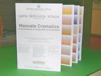 Manuale Cromatico di riferimento per la stampa delle carte geologicheTavola a colori di dimensioni 136,5 x 86,5cm, anno 2002