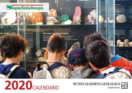 Calendario 2020 con immagini dei minerali Museo Giardino Geologico