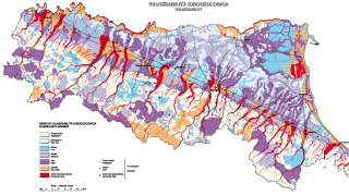 Tavola 2 schema direttore della pericolosità geoambientale
