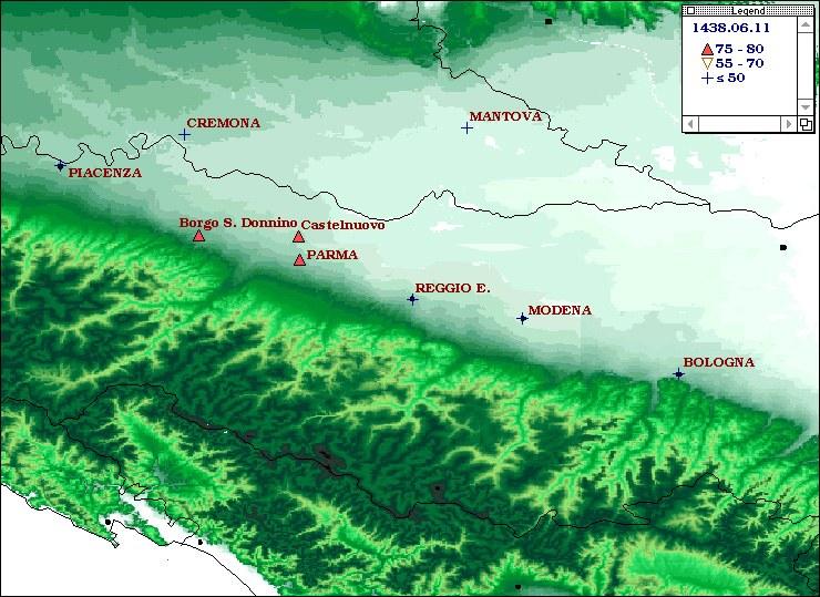 Terremoti del 1438 - Parmense