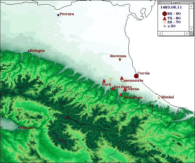 Terremoti del 1483 - Romagna meridionale