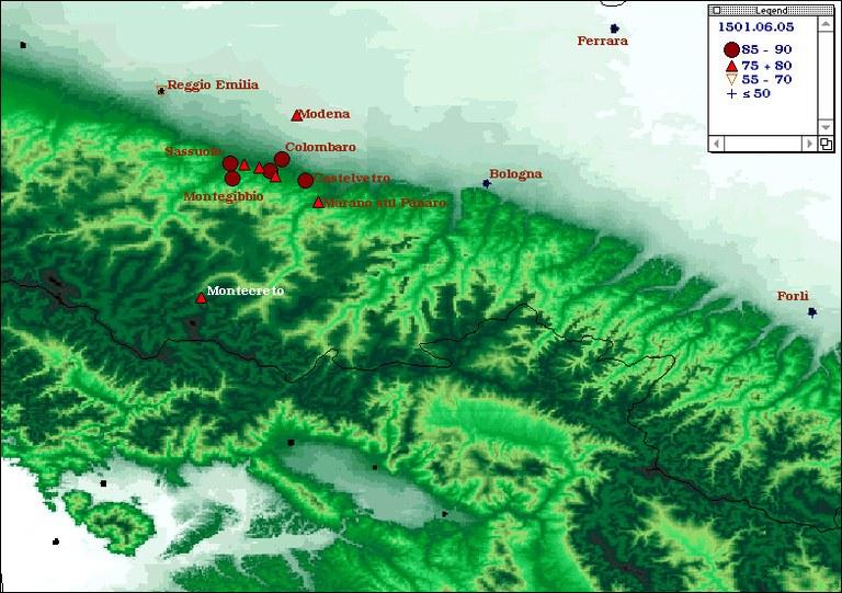 Terremoti del 1501 - Appennino modenese