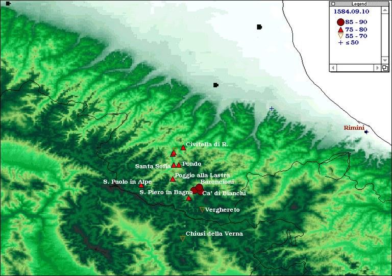 Terremoti del 1584 - Appennino tosco -emiliano