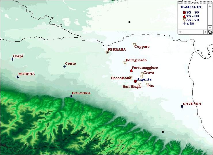 Terremoti del 1624 - Argenta